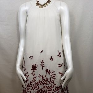 Lucky Brand embroidered floral dress XS